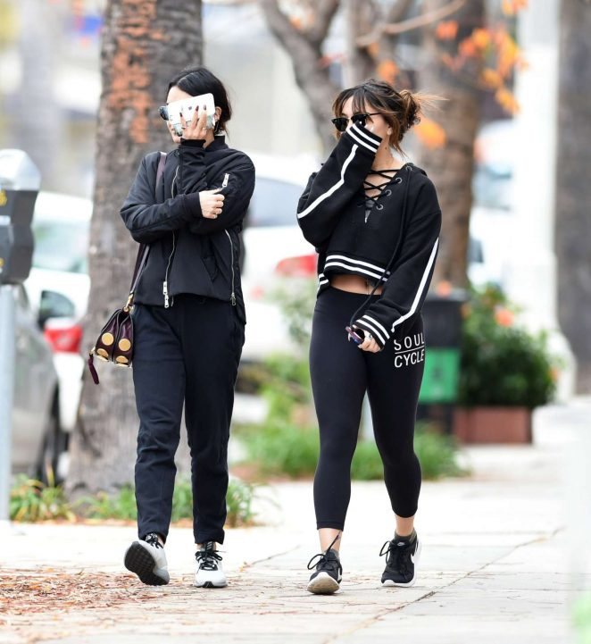Vanessa and Stella Hudgens go for a workout in Los Angeles