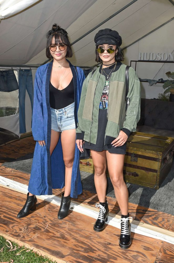 Vanessa and Stella Hudgens - Hudson Jeans FYF Fest Style Lounge in LA