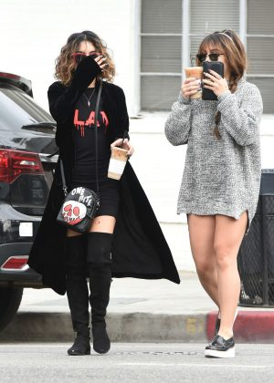Vanessa and Stella Hudgens on Halloween in Los Angeles