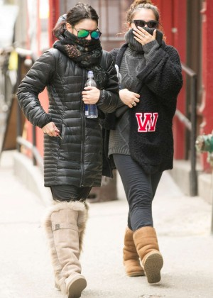 Vanessa and Stella Hudgens - Out and about in NYC