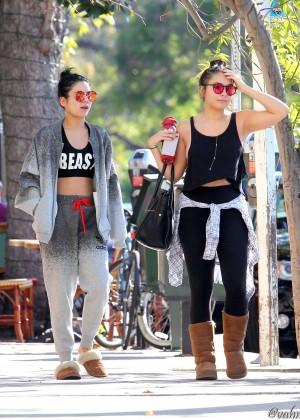 Vanessa and Stella Hudgens out in LA