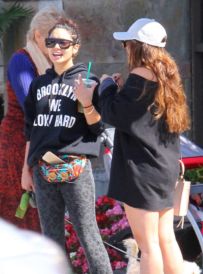 Vanessa and Stella Hudgens out in Los Angeles