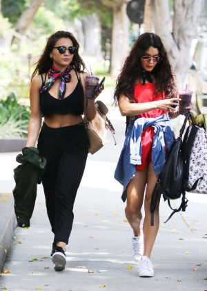 Vanessa and Stella Hudgens out in Weho
