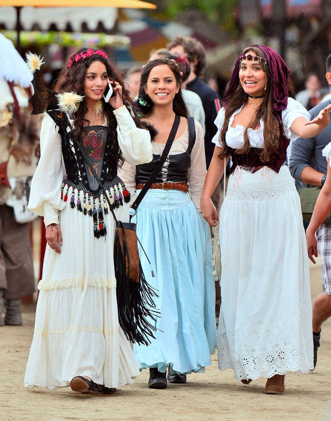 Vanessa and Stella Hudgens - Renaissance Fair in Los Angeles