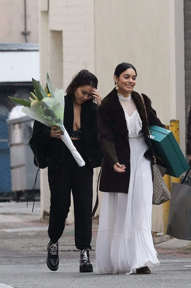 Vanessa and Stella Hudgens - Shopping at All Saints in Beverly Hills