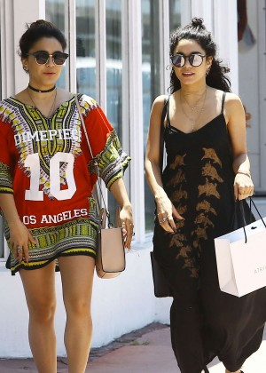 Vanessa and Stella Hudgens Shopping in Miami
