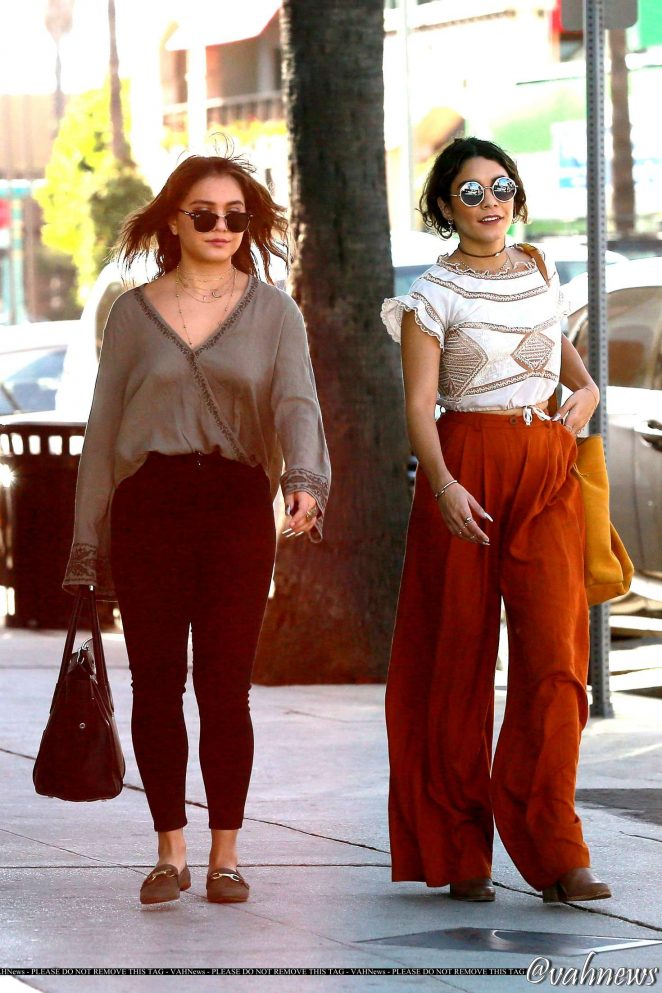 Vanessa and Stella Hudgens - Shopping in Studio City