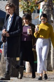 Vanessa and Stella Hudgens with Austin Butler - Gabbing coffee in Studio City