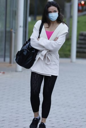 Vanessa Bauer - Pictured arriving at Dancing On Ice training in London