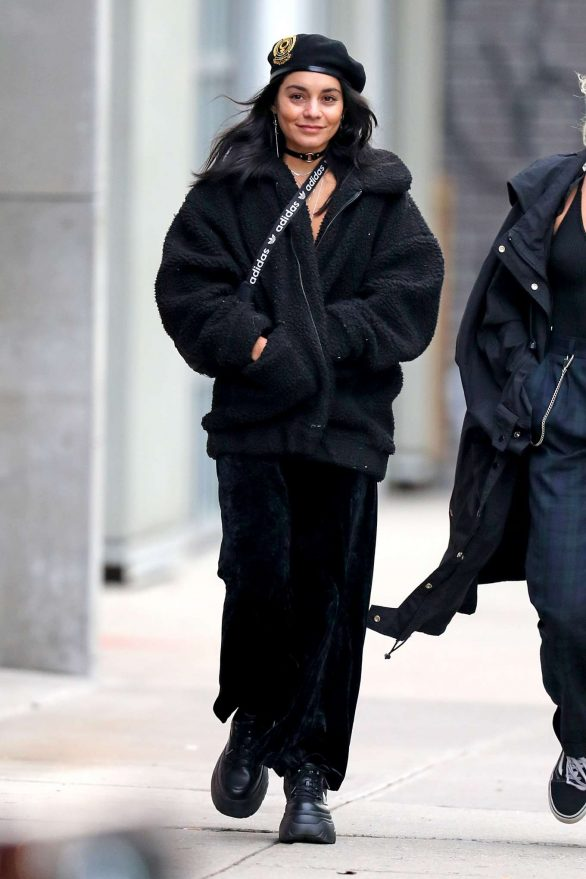 Vanessa Hudgens 2019 : Vanessa Hudgens – All in black out and about in New York City-10