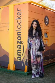 Vanessa Hudgens - Amazon Lockers at Coachella in Indio
