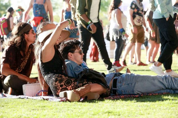 Vanessa Hudgens and Austin Butler at Coachella Valley Music and Arts Festival -01