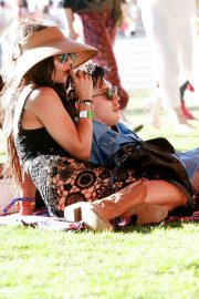 Vanessa Hudgens and Austin Butler at Coachella Valley Music and Arts Festival in Indio