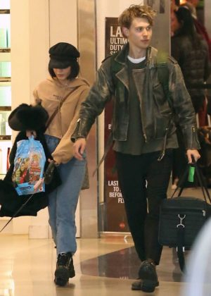 Vanessa Hudgens and Austin Butler at LAX Airport in LA