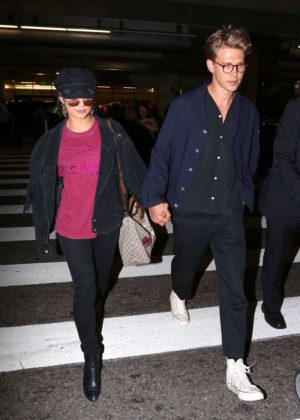 Vanessa Hudgens and Austin Butler at LAX Airport in Los Angeles