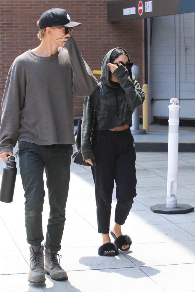 Vanessa Hudgens and Austin Butler Leaving a doctors office in Beverly Hills