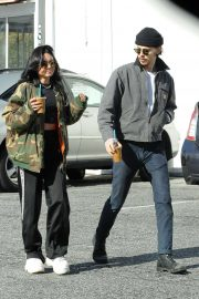 Vanessa Hudgens and Austin Butler - Leaving Blue Bottle Coffee in LA