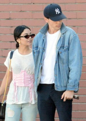 Vanessa Hudgens and Austin Butler - Out for dinner in Los Angeles