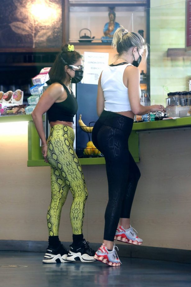Vanessa Hudgens and GG Magree - Seen at Earthbar in West Hollywood