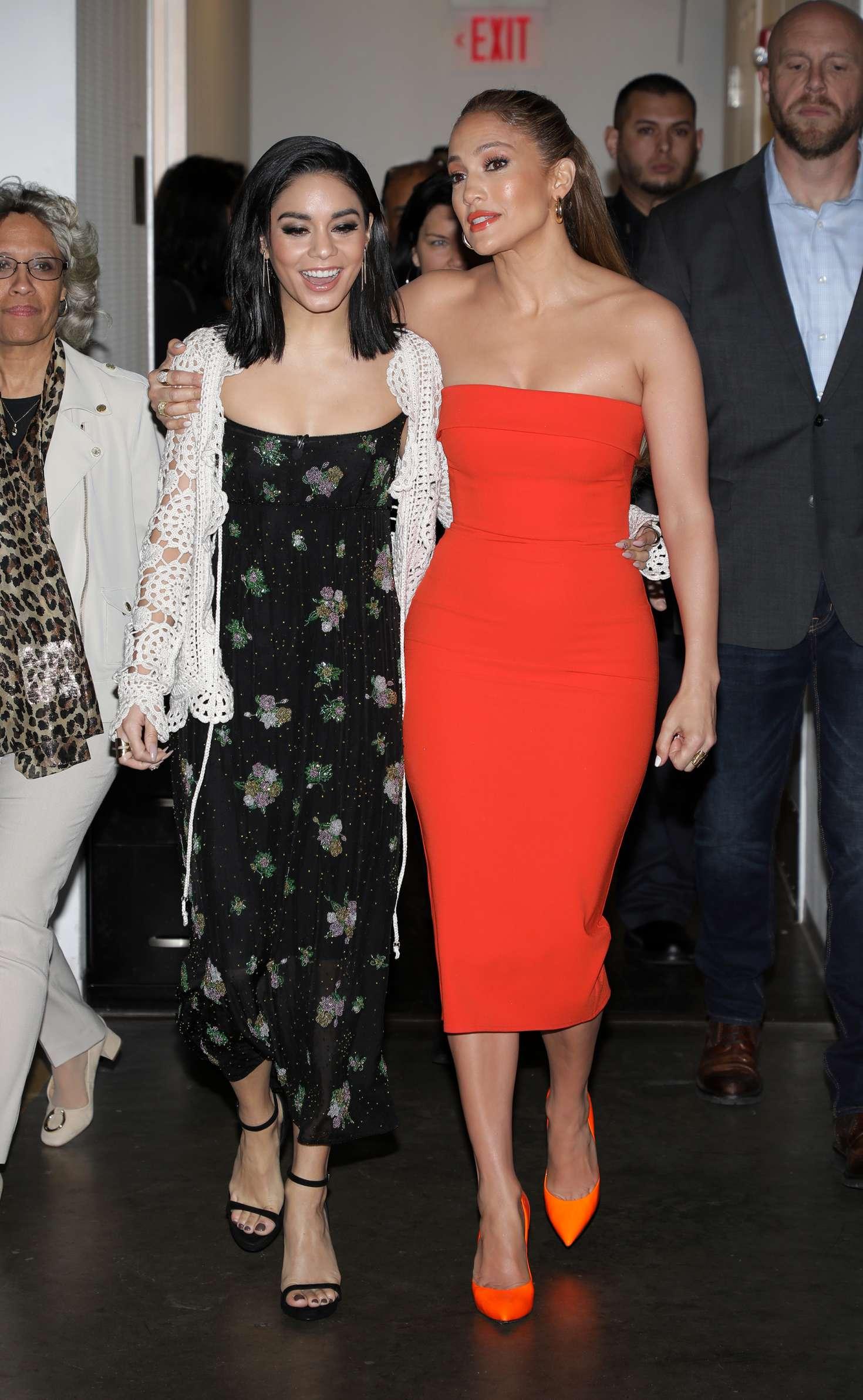 Vanessa Hudgens and Jennifer Lopez - Arriving at Univision's Despierta America Show in Miami