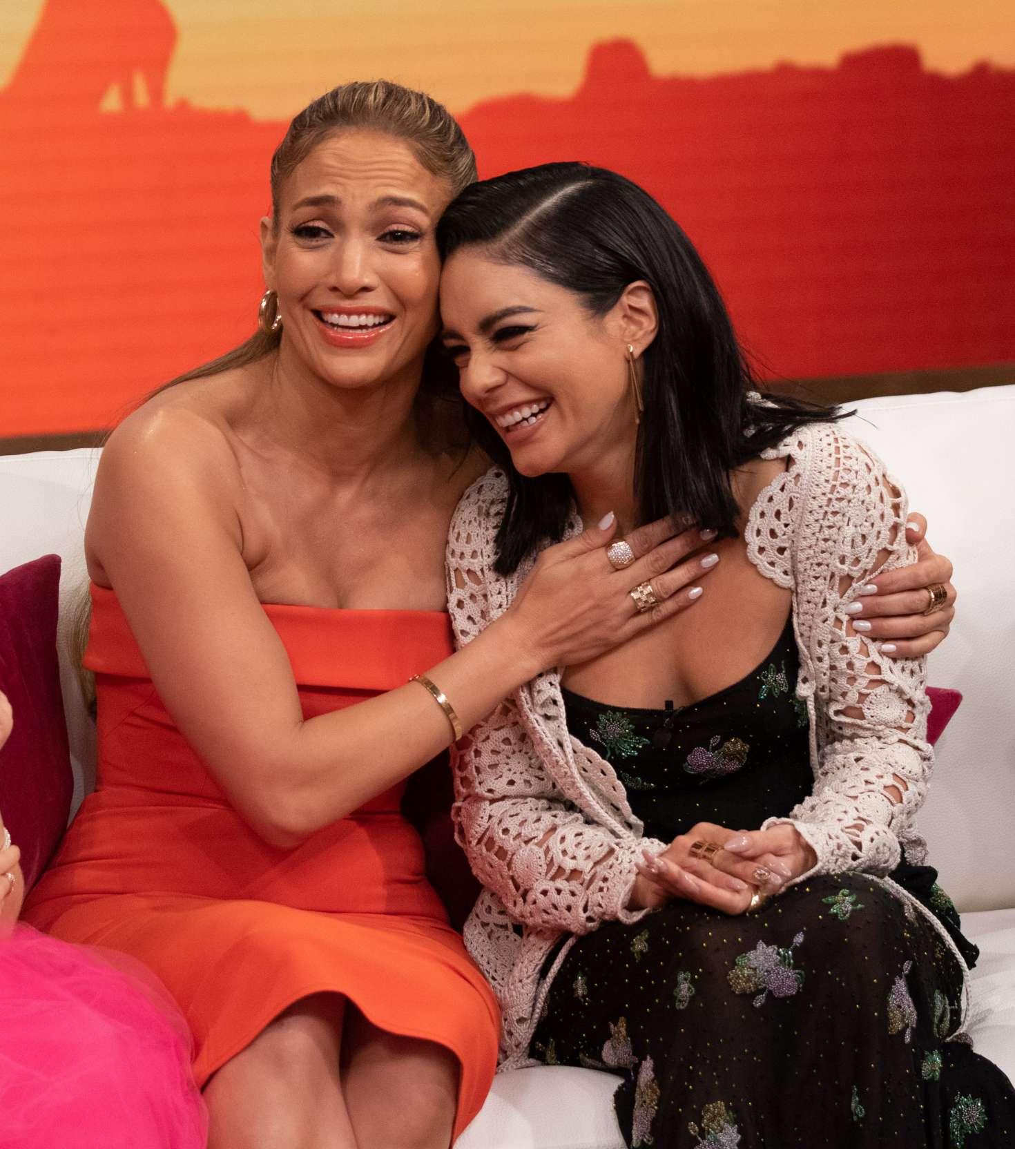 Vanessa Hudgens and Jennifer Lopez - On Despierta America in Miami