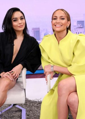 Vanessa Hudgens and Jennifer Lopez – On Telemundo's 'Un Nuevo Dia' in Miami