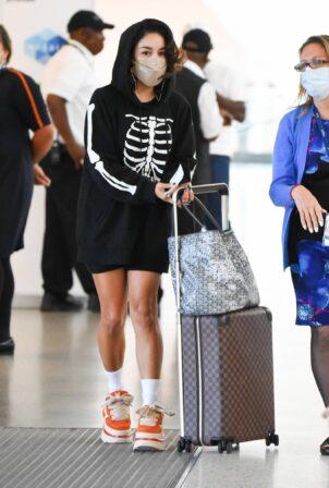 Vanessa Hudgens - Arrives at JFK Airport in New York