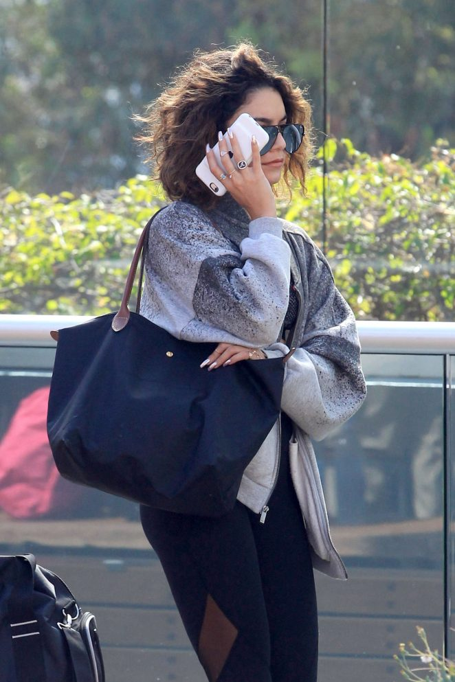 Vanessa Hudgens - Arriving at Equinox Gym in West Hollywood