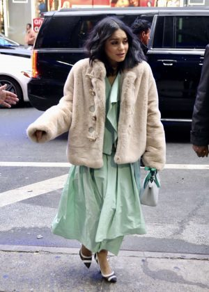 Vanessa Hudgens - Arriving at Good Morning America in New York