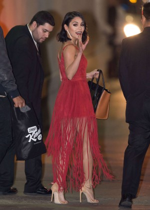 Vanessa Hudgens - Arriving at 'Jimmy Kimmel Live' in Hollywood