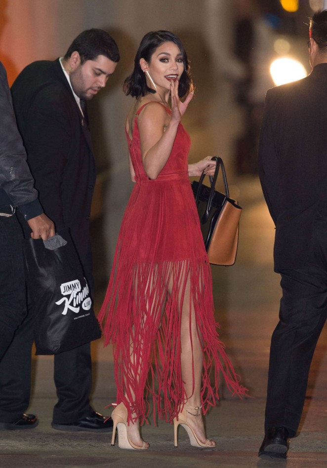 Vanessa Hudgens - Arriving at 'Jimmy Kimmel Live' in Hollywood
