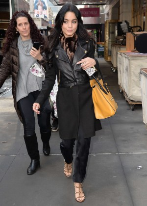 Vanessa Hudgens - Arriving at Neil Simon Theatre in NYC