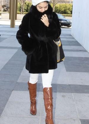 """Vanessa Hudgens - Arriving for her play """"Gigi"""" in Washington"""