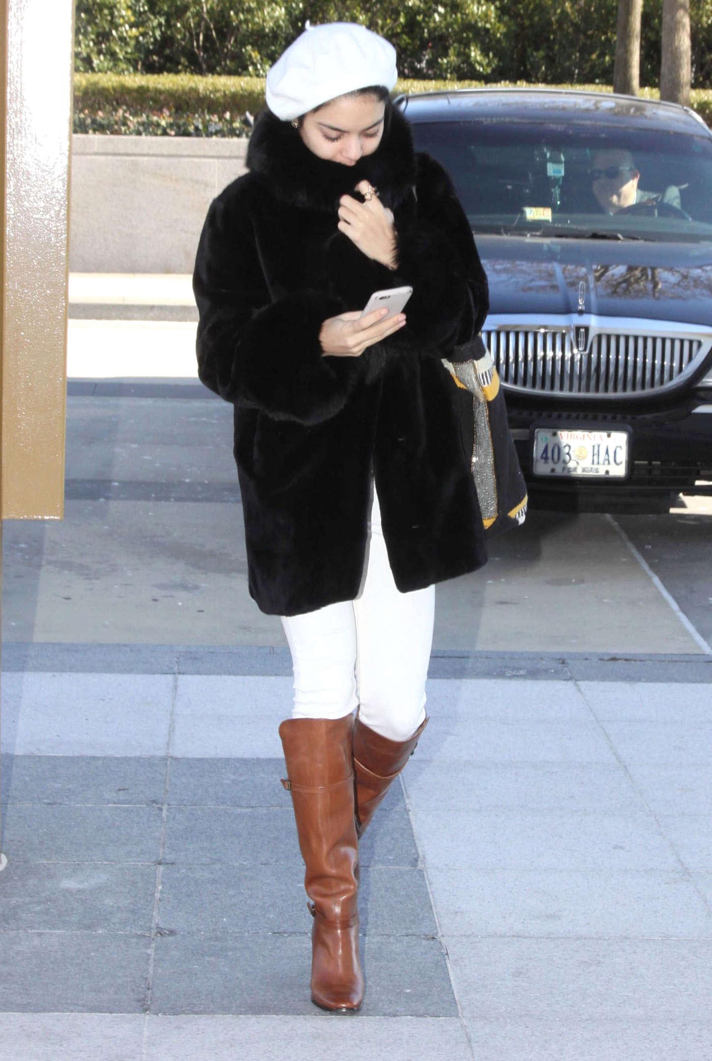 Vanessa Hudgens 2015 : Vanessa Hudgens: Arriving for her play Gigi -05