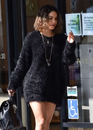 Vanessa Hudgens at a Nail Salon in Studio City