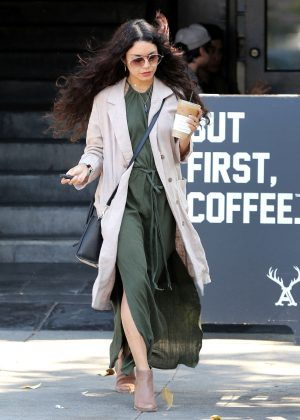 Vanessa Hudgens at Alfred's Coffee in West Hollywood