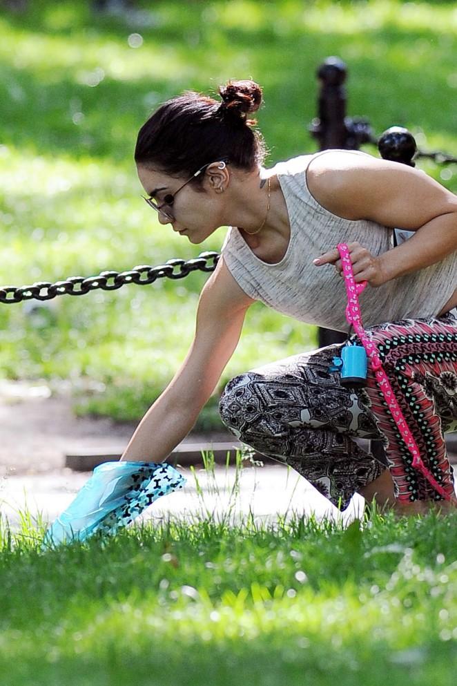 Vanessa Hudgens at Dog park -03