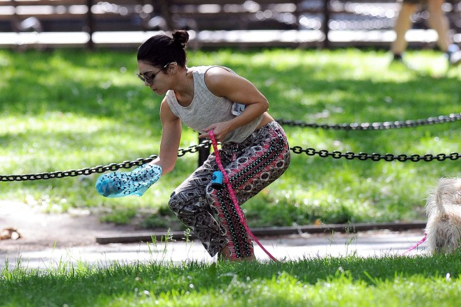 Vanessa Hudgens at Dog park -06