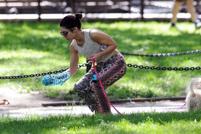Vanessa Hudgens at Dog park -06