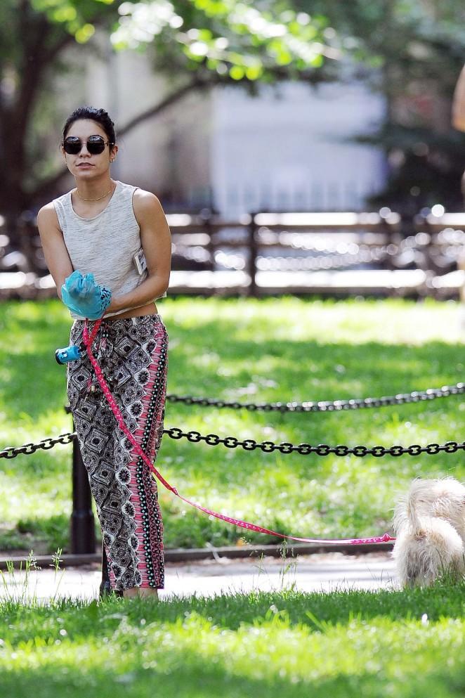 Vanessa Hudgens at Dog park -07