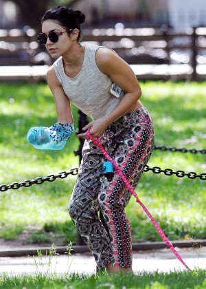 Vanessa Hudgens at Dog park in NYC