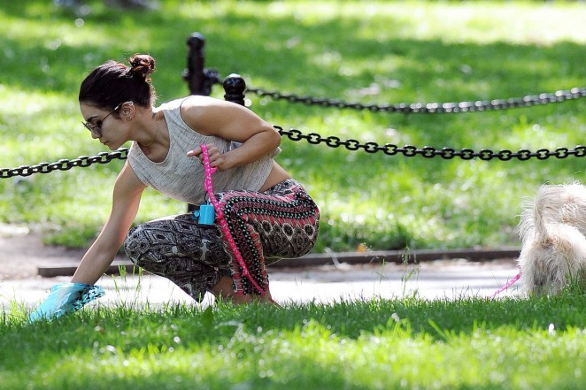 Vanessa Hudgens at Dog park -10