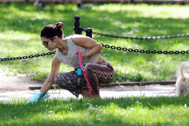 Vanessa Hudgens at Dog park -13