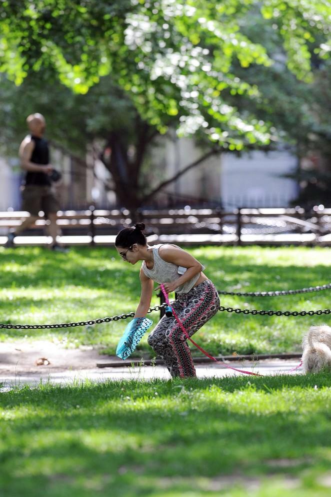 Vanessa Hudgens at Dog park -14