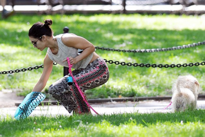 Vanessa Hudgens at Dog park -26