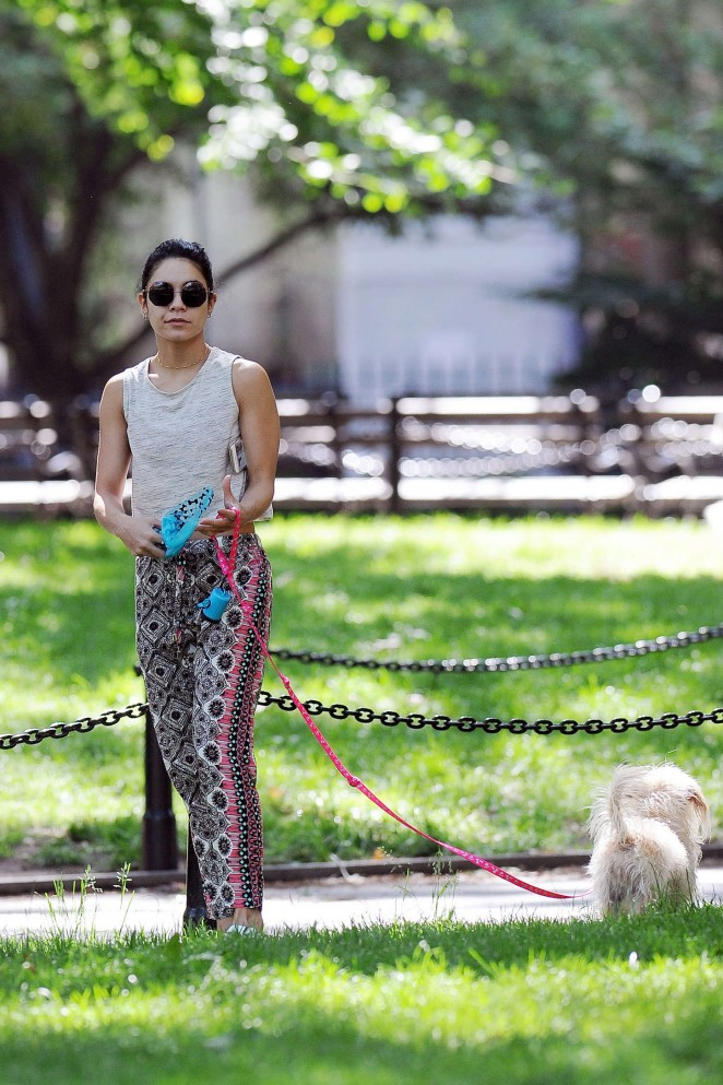 Vanessa Hudgens at Dog park -33