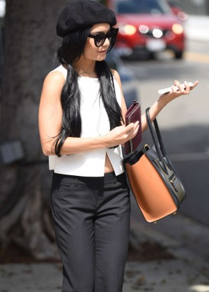 Vanessa Hudgens at Lack Nail Bar in Beverly Hills