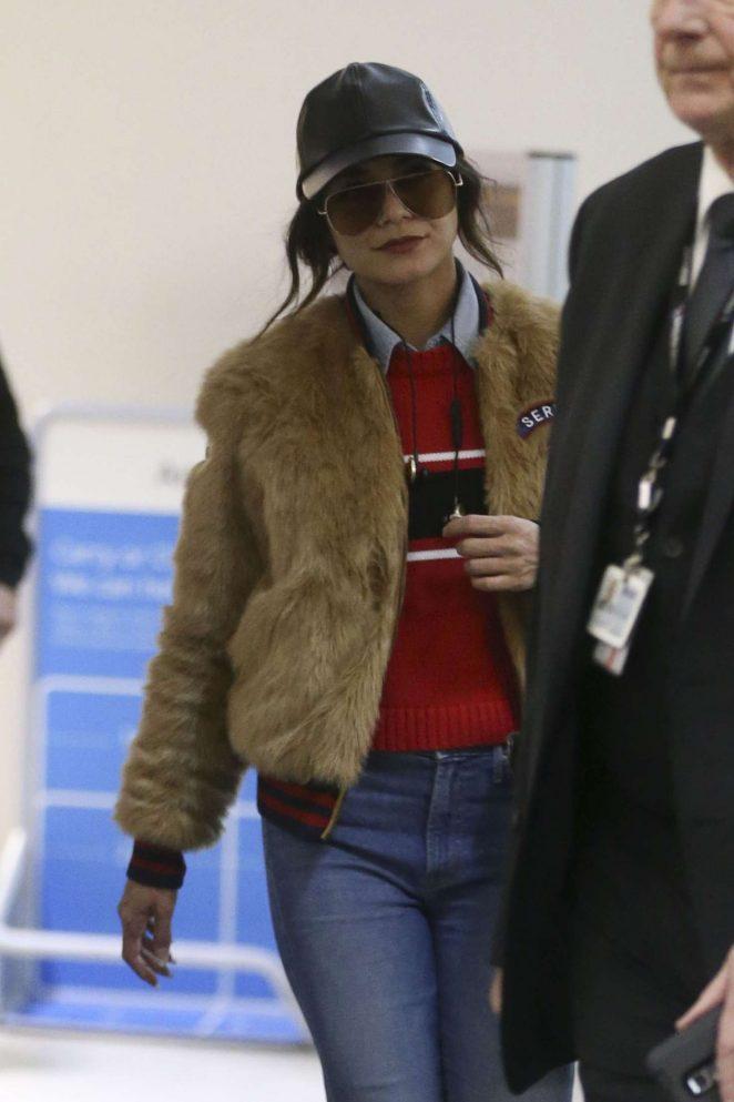 Vanessa Hudgens at LAX Airport in LA