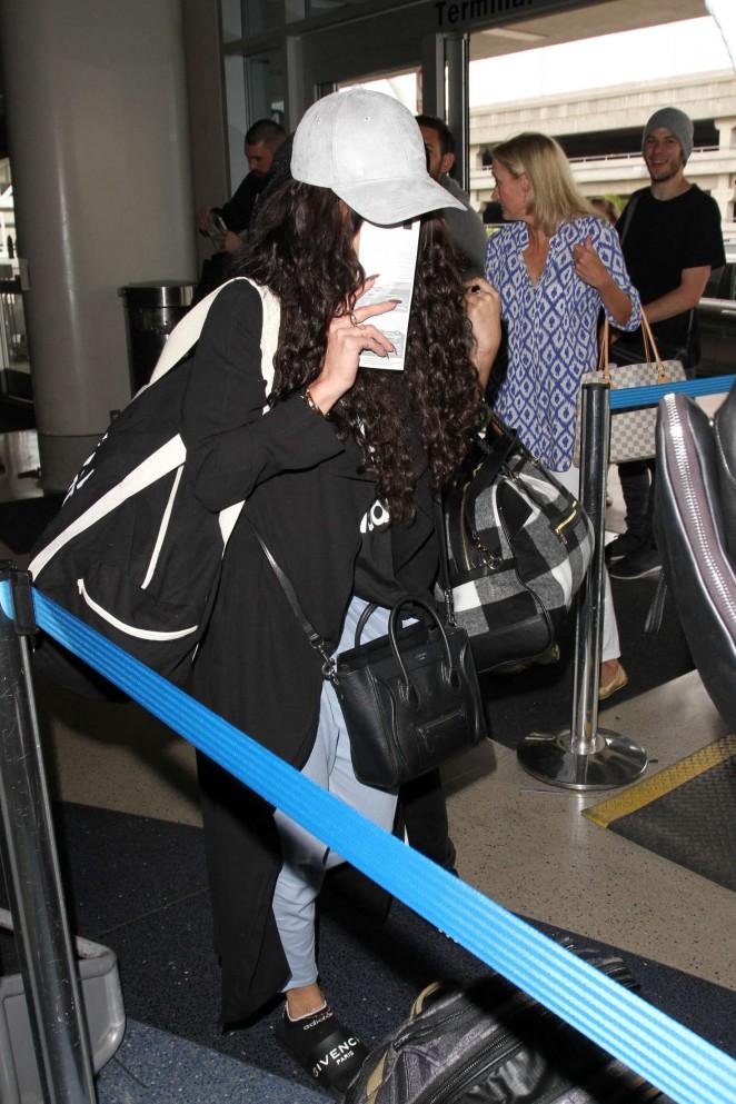 Vanessa Hudgens at LAX Airport in Los Angeles