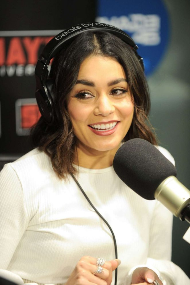 Vanessa Hudgens at SiriusXM Radio in New York